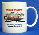 Capital Airlines Vickers Viscount Coffee Mug