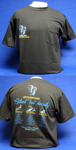 "Skunkworks - ""Silent But Deadly"" Pocket Front & Back-Print T-Shirt"
