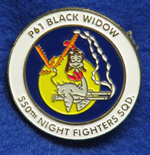 550th Night Fighter Squadron Insignia Pin