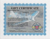 "NORTH AMERICAN SNJ / AT-6 ""TEXAN"" RIDE CERTIFICATE"