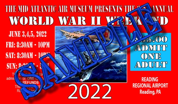 SINGLE-DAY ADULT ADMISSION - 2015 WW II WEEKEND