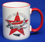 P2V Neptune Coffee Mug White & Red