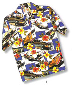 Men's Hawaiian Aloha Shirt - Blue Hibiscus