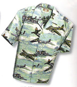 Men's Hawaiian Aloha Shirt - Sea Foam Green