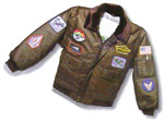 Imitation Leather Children's and Youth's Flight Jacket