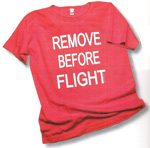 Remove Before Flight Women's Scoop-Neck T-Shirt