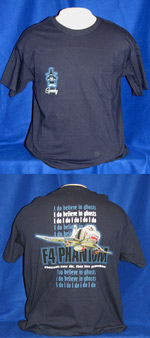 F-4 Phantom - I Do Believe In Ghosts - Front & Back-Print T-Shirt