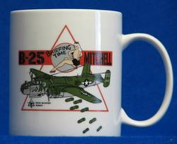 B-25J 'Briefing Time' Coffee Mug - White