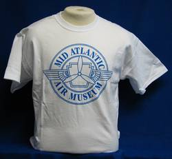 Mid-Atlantic Air Museum Logo T-Shirt - White