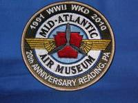 2010, 20th Anniversary World War II Weekend - Embroidered, 8-color patch
