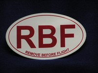 RBF Remove Before Flight Euro-Sticker