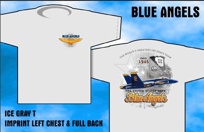 Blue Angels - Since 1946  - Front & Back-Print T-Shirt