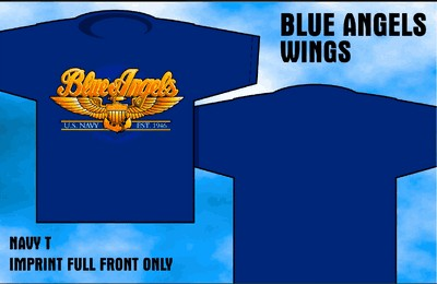 Blue Angels - Wings - Front & Back-Print T-Shirt