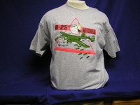 B-25 'Briefing Time' Grey T-Shirt
