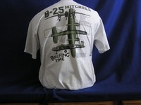 B-25 'Briefing Time' Three-View  Front & Back Print T-Shirt