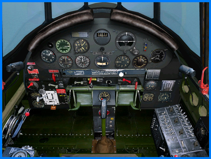 The magnificent and fully-functional, 3D Virtual Cockpit of the TBF-1/1C