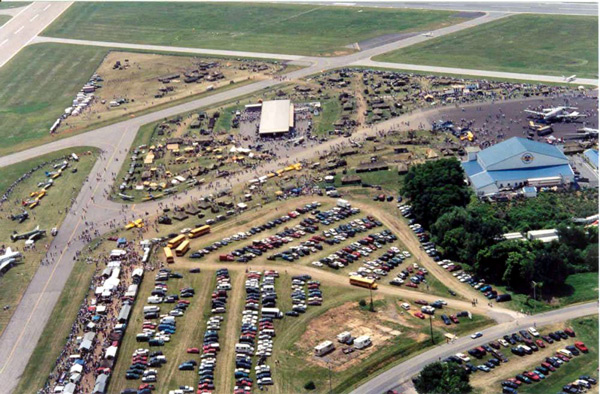 WW II Weekend Aerial View