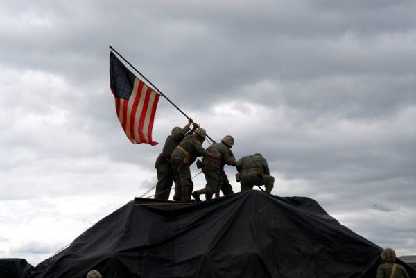 Iwo Jima Flag Raising Re-enactment