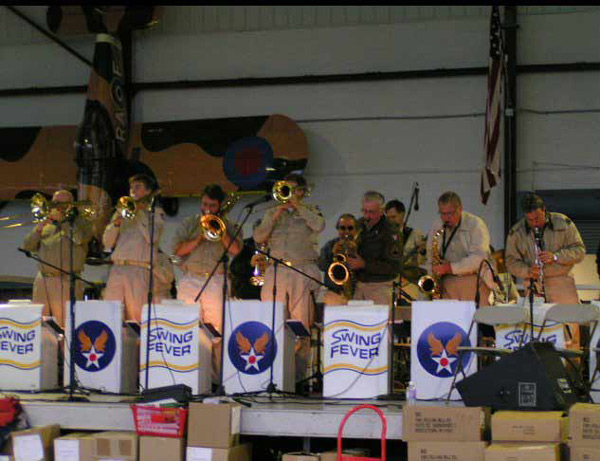 'Swing Fever' Dance Band in the Hangar