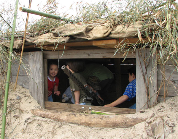 Youngsters in a Pacific Theater Bunker
