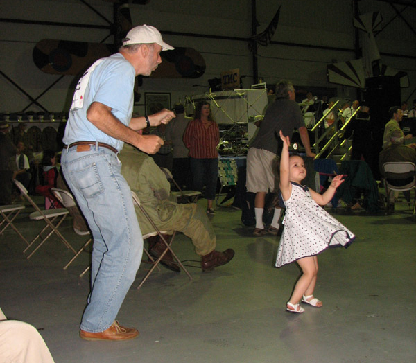 Young Swing Dancer & Partner at the Hangar Dance