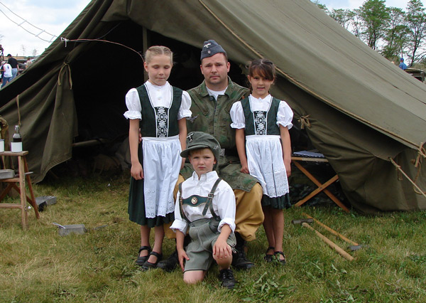 Young German Family Re-enactors