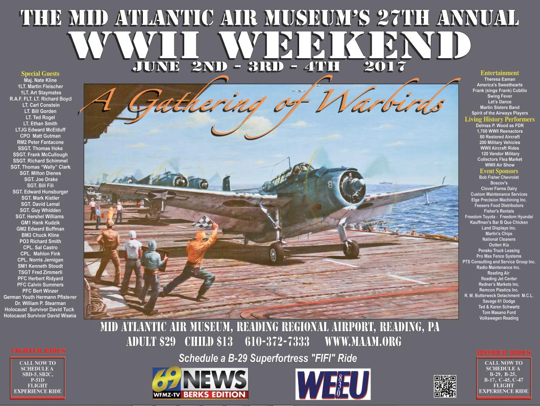 The Mid Atlantic Air Museum Ww Ii Weekend Poster
